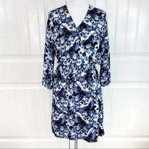 Love Ady Floral Print Surplice V-neck Mini Dress